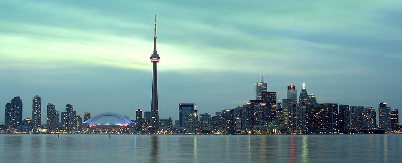 File:Toronto Evening Skyline HDR.jpg