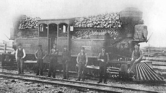 Toronto and Nipissing Railway - Fairlie-patent double-boilered locomotive