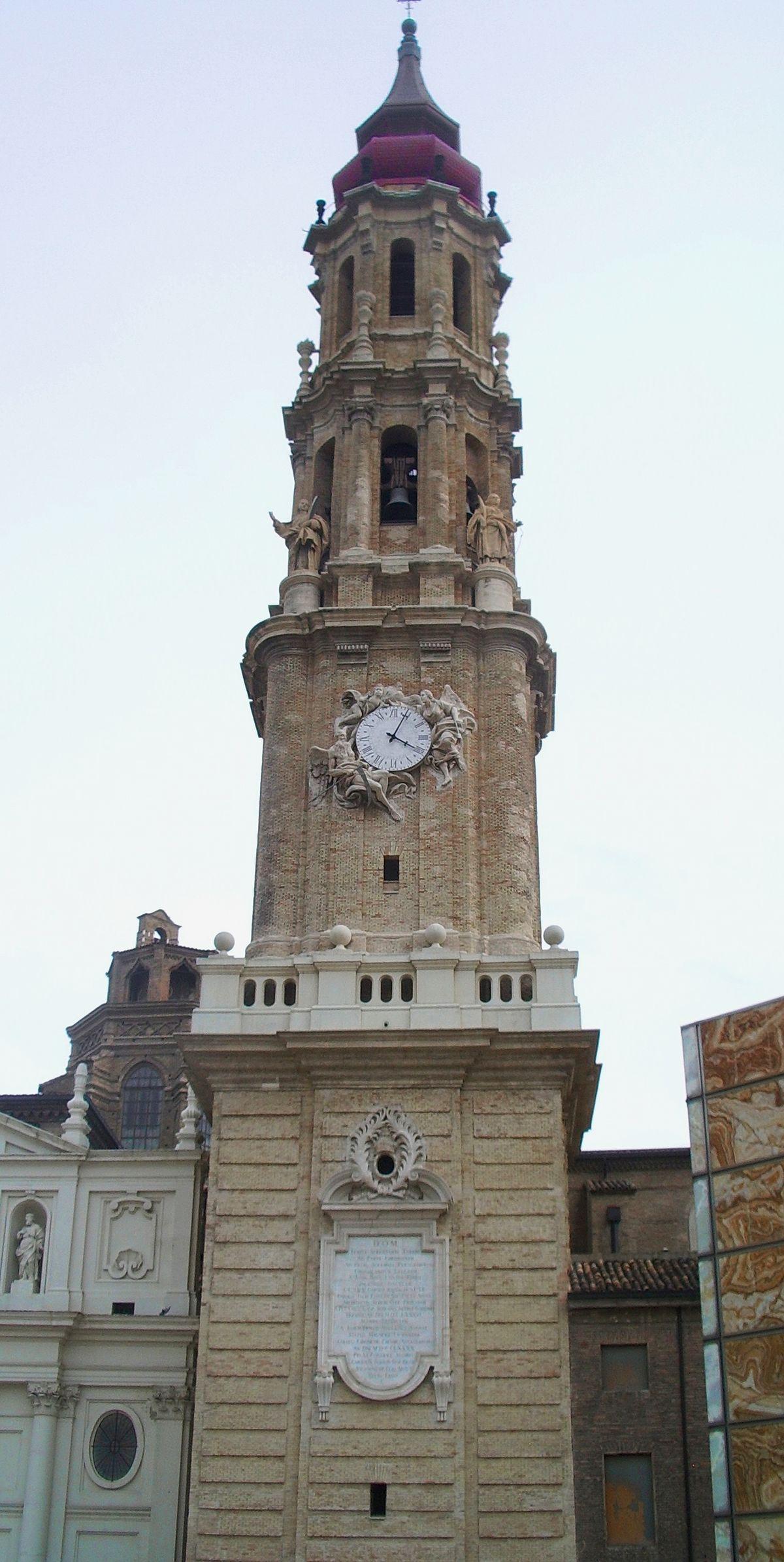 Torre de la seo wikipedia la enciclopedia libre - Arquitectura en zaragoza ...