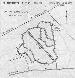 Tortorella Airfield - General map of airfield
