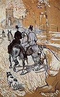 Toulouse-Lautrec - Horsemen Riding in the Bois de Boulogne, 1888.jpg
