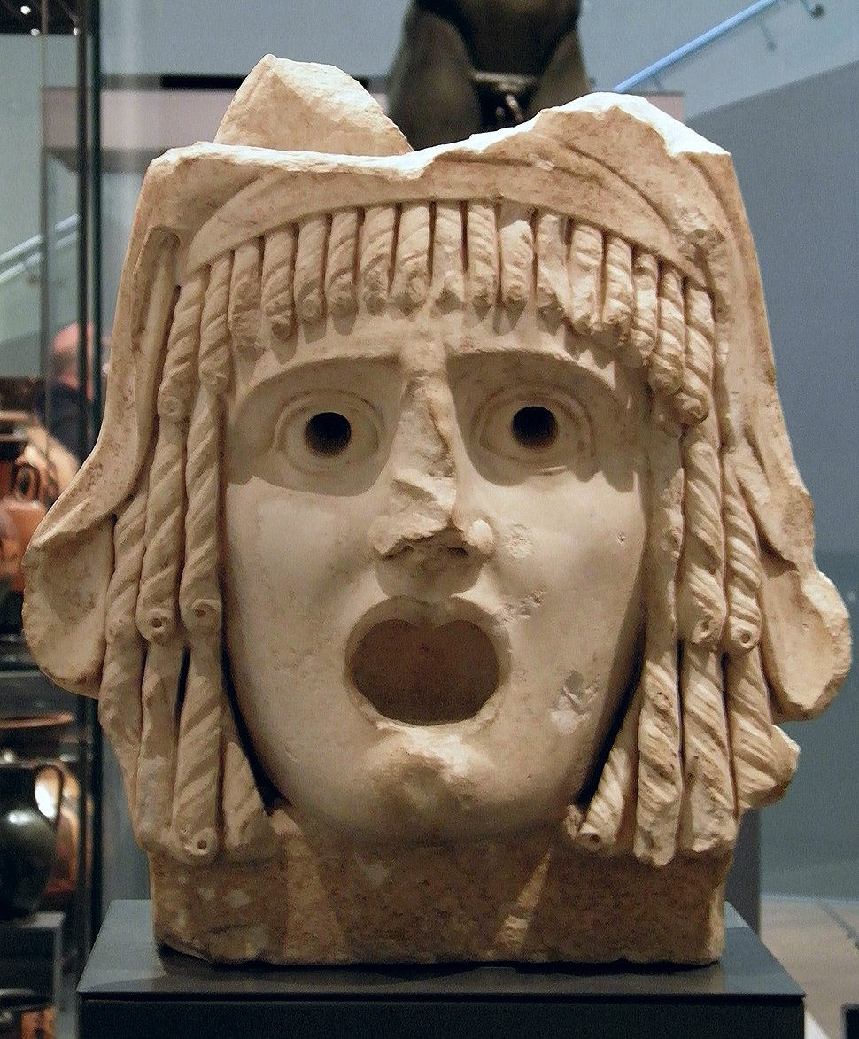 Tragic mask dating to the 1st century BC or 1st century AD, Ashmolean Museum (8400677139)