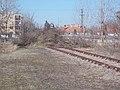 Train station, rail track end, 2019 Kalocsa.jpg