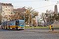 Tram in Sofia near Russian monument 068.jpg