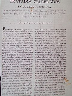 Treaty of Córdoba treaty that established Mexican independence from Spain