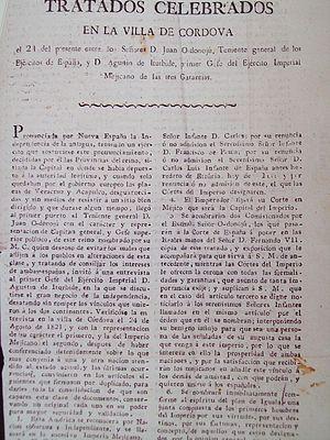 Treaty of Córdoba - Image: Tratados de Córdoba