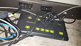 AC power plugs and sockets - A Plug Strip with 2 USB ports and built in Surge Protection