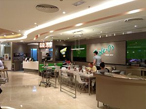 White Spot - A Triple O's restaurant in Pacific Place, Hong Kong.