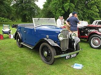 Triumph Motor Company - 1931 Triumph Super 9, 4 Door Tourer