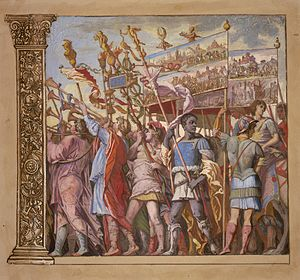 Andrea Andreani - Triumphus Caesari, by Andreani, after a painting by Mantegna