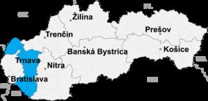 Piešťany District - Image: Trnava kraj