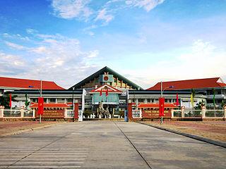 Bình Minh Town in Mekong Delta, Vietnam