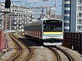 Tsurumi Line 205-1100 series T15 Kokudo Station 20150720.jpg