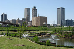 Downtown Tulsa's skyline