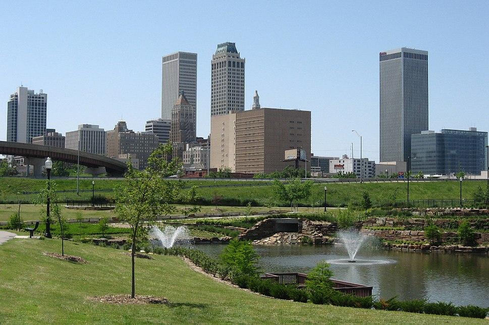 Downtown Tulsa's skyline
