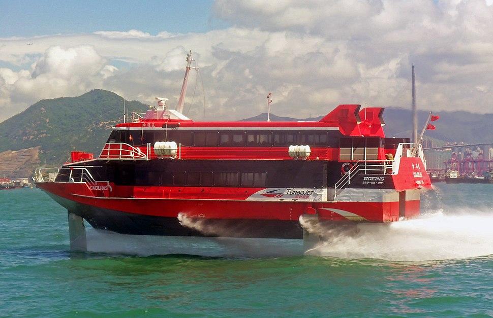 TurboJet hydrofoil Cacilhas in Hong Kong harbor