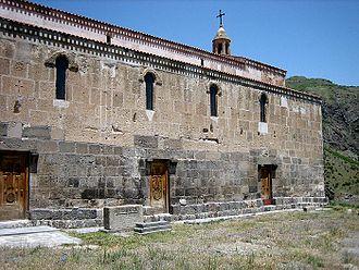 Culture of Artsakh - Tzitzernavank Monastery (4th century) after restoration