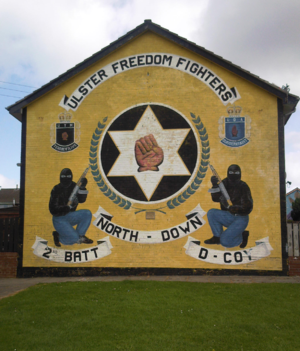 Force Research Unit - A mural of the UDA/UFF
