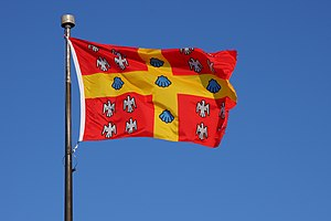 Flag of Laval University, Quebec City. Françai...