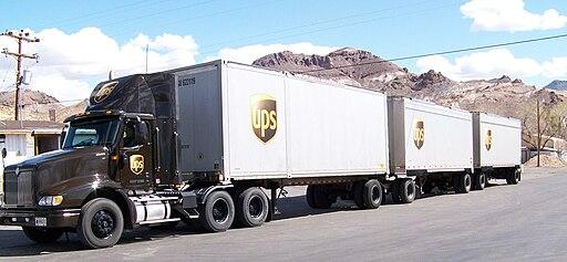 UPS Truck in Beatty Nevada (1)