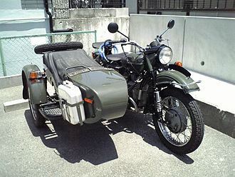 Motorcycle - A Ural motorcycle with a sidecar