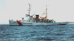 """USCGC Tamaroa (WMEC-166), best known for her rescues during the """"Perfect Storm"""" of 1991."""