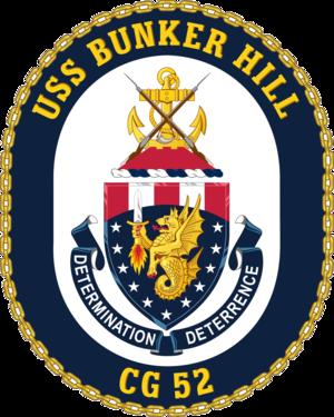 USS Bunker Hill (CG-52) - Image: USS Bunker Hill CG 52 Crest