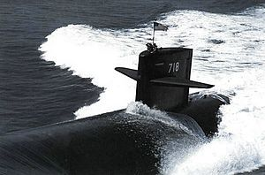 USS Honolulu (SSN-718) - Image: USS Honolulu (SSN 718) underway