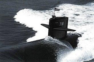 USS Honolulu (SSN-718) - Image: USS Honolulu (SSN 718) underway