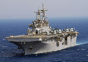 USS Wasp (LHD-1) - Image: USS Wasp (LHD 1) Osprey 2