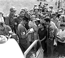 US Army medics in Orleans, France 1944-08-19