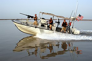 Transportable Port Security Boat - Image: US Coast Guard Transportable Port Security Unit