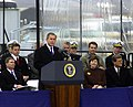 US Navy 010304-A-0000J-001 Christening Ceremony for Ronald Reagan CVN 76.jpg