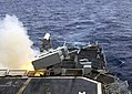 US Navy 030227-N-4649C-001 The destroyer USS O'Bannon (DD 987) launches a RIM-7 NATO Sea Sparrow missile during an exercise conducted with the Atlantic Fleet Weapons Training Facility.jpg