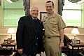 US Navy 040308-N-2383B-007 Acclaimed Academy Award winning actor and World War II combat veteran Chief's Gunner Mate Ernest Borgnine, stopped by the Pentagon to meet with Adm. Michael G. Mullen, Vice Chief of Naval Operations (.jpg