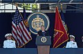 US Navy 050527-N-9693M-018 President of the United States, George W. Bush delivers his remarks as part of the U.S. Naval Academy class of 2005 Graduation and Commissioning Ceremony.jpg