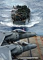 US Navy 050805-N-7217H-020 A Landing Craft, Utility (LCU) prepares to enter the well deck of the amphibious assault ship.jpg