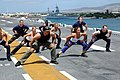 US Navy 060627-N-5290S-097 Gilad of the Fit TV show, Bodies in Motion, films a show aboard the amphibious assault ship USS Bonhomme Richard (LHD 6).jpg