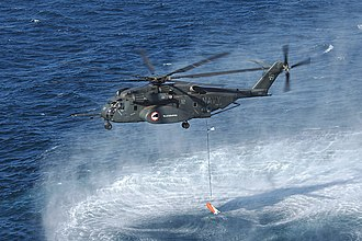 Sikorsky CH-53E Super Stallion - A MH-53E Sea Dragon from HM-15 during a mine sweeping exercise, 2007