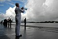 US Navy 071207-N-4965F-014 A bugler from the U.S. Pacific Fleet Band plays the traditional call to Taps.jpg
