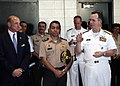 US Navy 080118-N-3003C-465 Adm. Mike Mullen, Chairman of the Joint Chiefs of Staff, addresses Salvadoran Chief of Defense Gen. Eduardo Mendoza and U.S. Ambassador to El Salvador Ambassador Charles Glazer.jpg