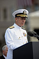 US Navy 080911-N-0696M-014 Chairman of the Joint Chiefs of Staff Navy Adm. Mike Mullen speaks at the Pentagon Memorial dedication ceremony Sept. 11, 2008.jpg