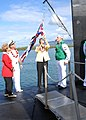 US Navy 090723-N-5476H-248 The Honorable Linda Lingle, governor of the state of Hawaii, raises the Hawaii state flag for the first time aboard Virginia-class attack submarine USS Hawaii (SSN 776).jpg