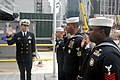 US Navy 111013-N-YZ943-014 Cmdr. John Skarin, commanding officer of Navy Recruiting District New York, reenlists three recruiters.jpg