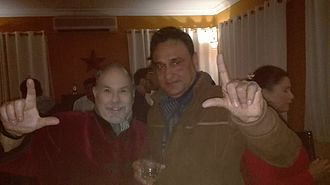 Ujwal Ghimire - Ghimire with Dov Simens an American film educator