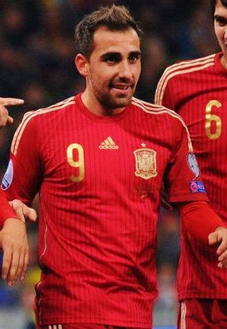 Paco Alcácer - Alcácer playing with Spain in 2015