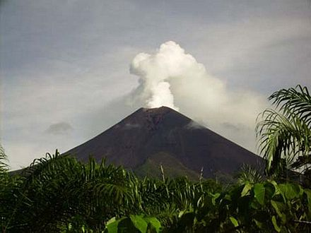 Ulawun stratovolcano situated on the island of New Britain, Papua New Guinea Ulawun.jpg