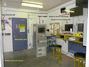 ULC fire test observation room.