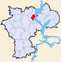 Byens beliggenhed i Uljanovsk ubladdusk.