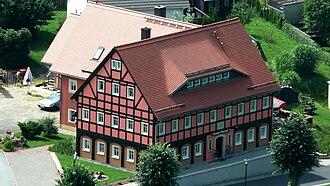 Oybin - Image: Umgebindehaus in Oybin 1